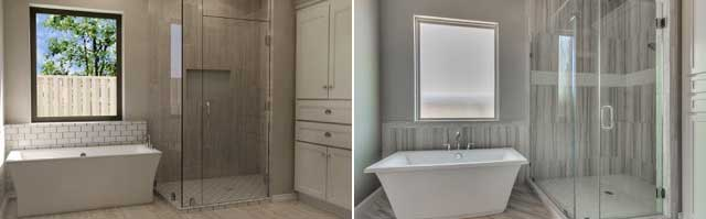 Bathroom Rendering Comparison - 3D House Plans