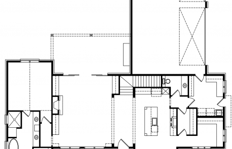 Autumn Ridge farmhouse 1st floor plan - Elements Design Build Greenville SC