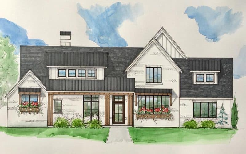Autumn Ridge Farmhouse house plan - Elements Design Build Greenville SC