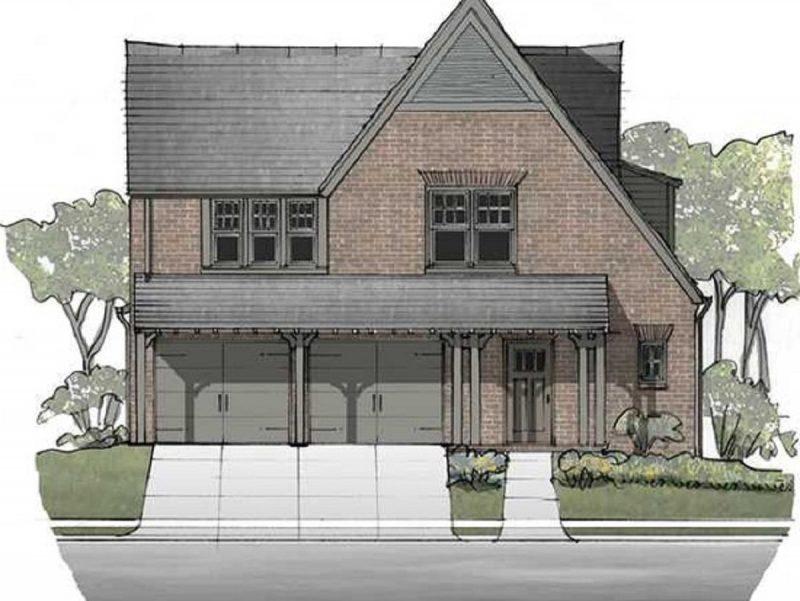 Banbury English Farmhouse Cottage Elevation - Elements Design Build Greenville SC