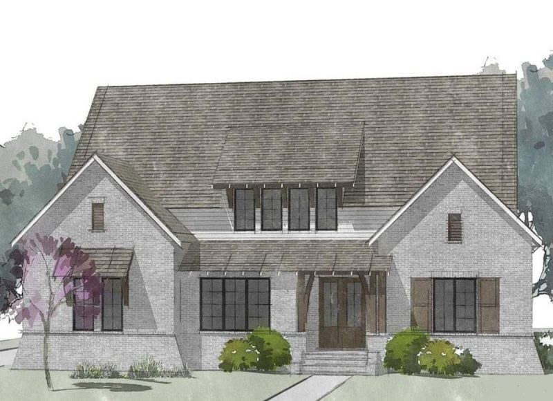 Berkshire English Craftsman cottage Elevation - Elements Design Build Greenville SC