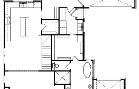 Bibury Tudor Cottage 1st Floor plan - Elements Design Build Greenville SC