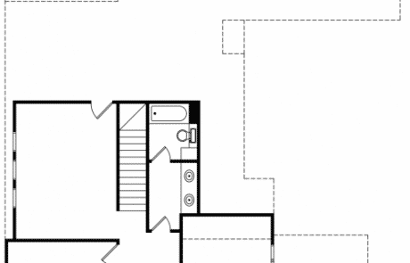 Bibury Tudor Cottage 2nd Floor Plan - Elements Design Build Greenville SC