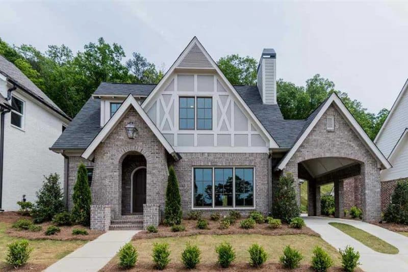 Bibury Tudor Cottage Elevation - Elements Design Build Greenville SC (1)