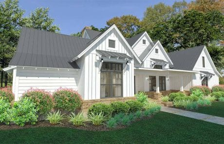 Brook Ranch House Plan Elevation - Elements Design Build Greenville SC 2