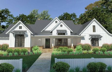 Brook Ranch House Plan Elevation - Elements Design Build Greenville SC 3