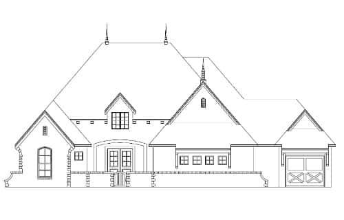 Cheshire Elevation - Elements Design Build Greenville SC