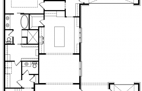 Dorset Classic Tudor Home1st floor plan - Elements Design Build Greenville SC