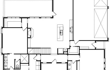 Fox hill Coastal Farmhouse 1st floor plan - Elements Design Build Greenville SC