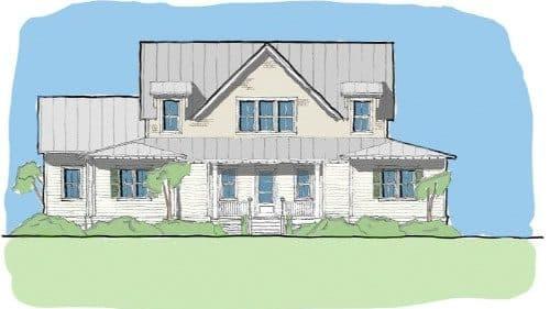 Fox hill Elevation - Elements Design Build Greenville SC