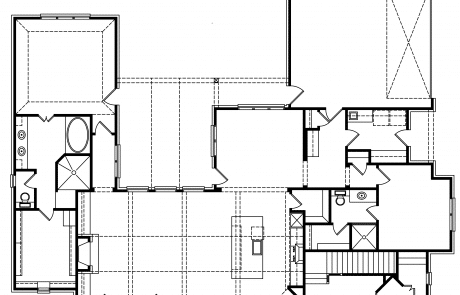 Glory Creek Modern Farm House Plans 1st floor plan - Elements Design Build Greenville SC