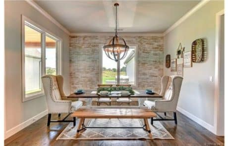 Glory Creek Modern Farm House Plans Dining Room - Elements Design Build Greenville SC