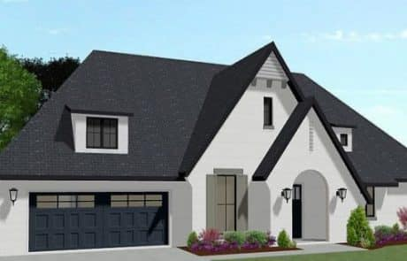 Hampton One Story Cottage Elevation - Elements Design Build Greenville SC 3