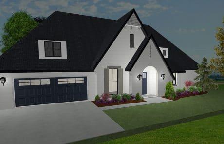 Hampton One Story Cottage Elevation - Elements Design Build Greenville SC