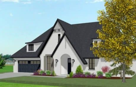 Hampton One Story Cottage Elevation - Elements Design Build Greenville SC 2