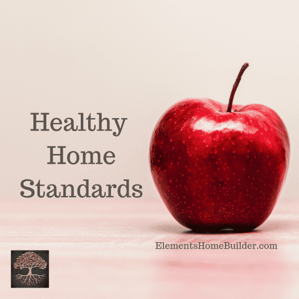 Photo of one red apple on Healthy Home Standards, an article by Elements Design Build