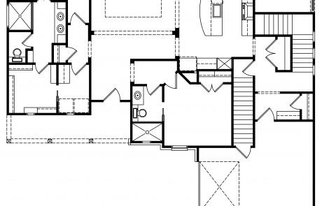 Hiddenbrook Cottage Farmhouse 1st floor plan - Elements Design Build Greenville SC