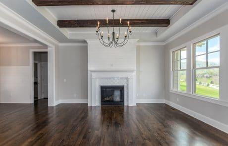 Hiddenbrook Cottage Farmhouse Living Room - Elements Design Build Greenville SC (2)