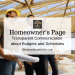 "Photo of residential home builder with clients on building site on ""Homeowner's Page,"" an article by Elements Design Build, Custom Home Builder Greenville SC"