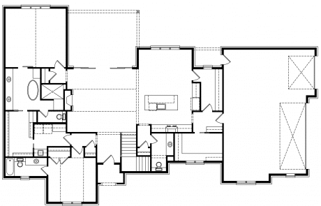 Homestead Urban Modern Farmhouse 1st floor plan - Elements Design Build Greenville SC (1)