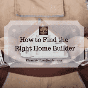 "Photo of a man wearing a toolbelt, holding a model of a home on ""How to Find the Right Home Builder,"" an article by Elements Design Build, Custom Home Builder Greenville SC"