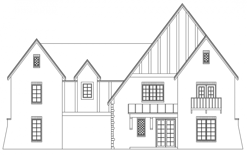 Oxfordshire Tudor Style Elevation - Elements Design Build Greenville SC (1)
