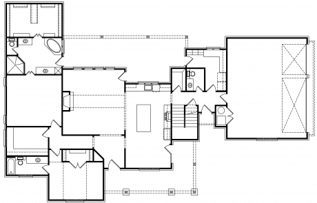 Sleepy Hollow French Country Cottage 1st floor plan - Elements Design Build Greenville SC (2)