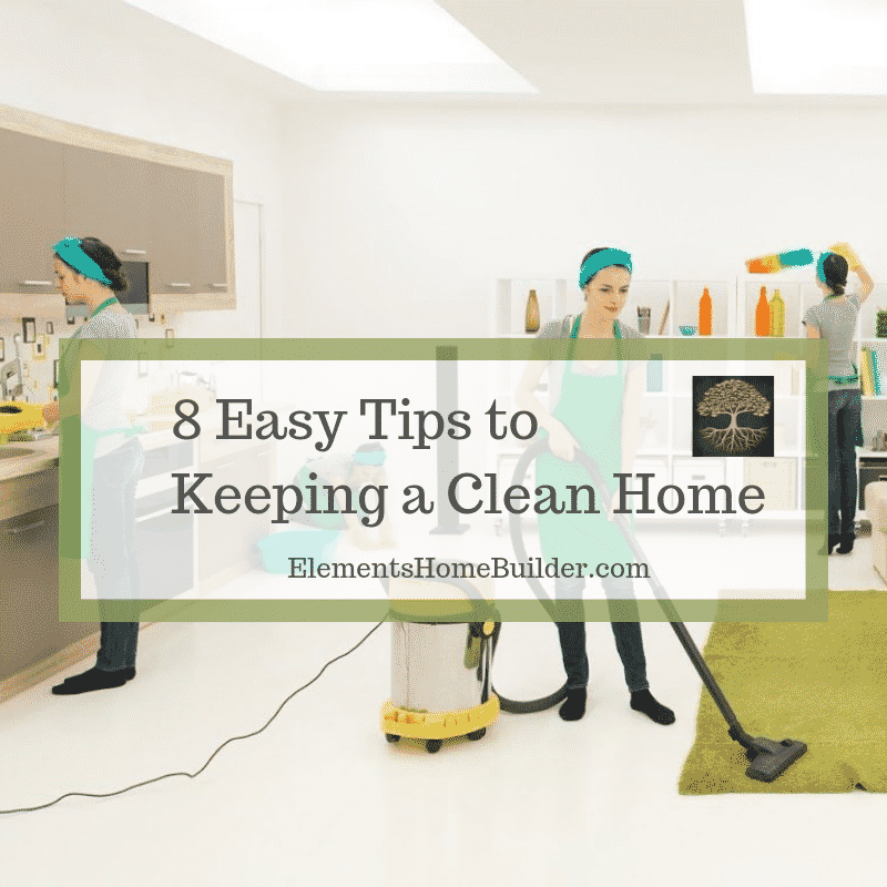 "Photo of several women cleaning a house on ""8 Easy Tips to Keeping a Clean Home,"" an article by Elements Design Build, Custom Home Builder Greenville SC"