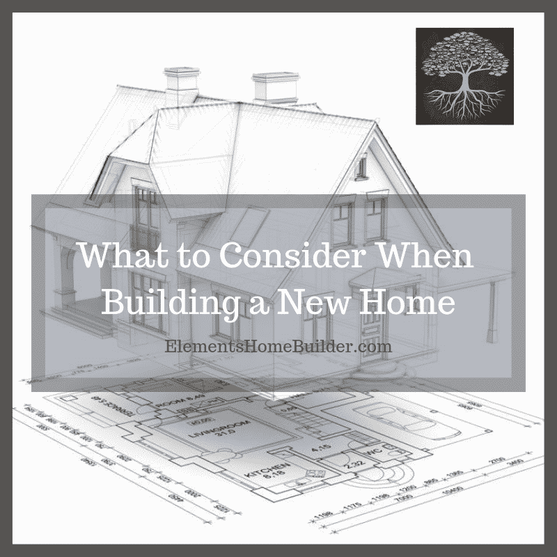 """Sketch of a completed house with floor plans below on """"What to Consider When Building a New Home,"""" an article by Elements Design Build, a Custom Home Builder Greenville SC"""