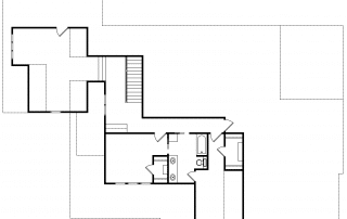 Wildberry Modern Ranch Farmhouse 2nd Floor Plan - Elements Design Build Greenville SC