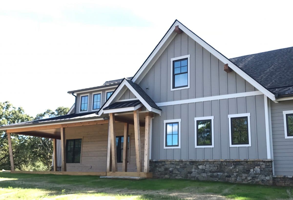 Wildberry Modern Ranch Farmhouse Elevations - Elements Design Build Greenville SC