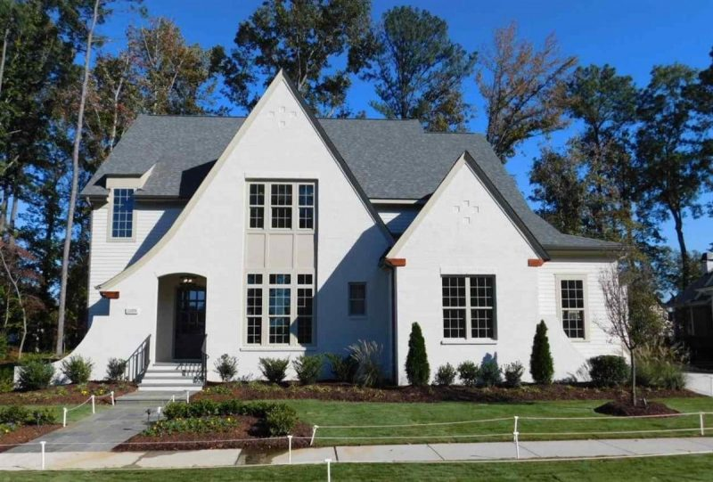 Wiltshire English Revival Cottage Elevation - Elements Design Build Greenville SC