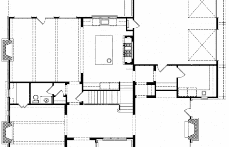 Worcester Tudor Revival 1st Floor Plan - Elements Design Build Greenville SC