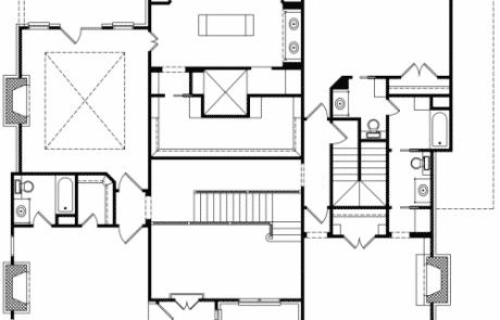 Worcester Tudor Revival 2nd Floor Plan - Elements Design Build Greenville SC