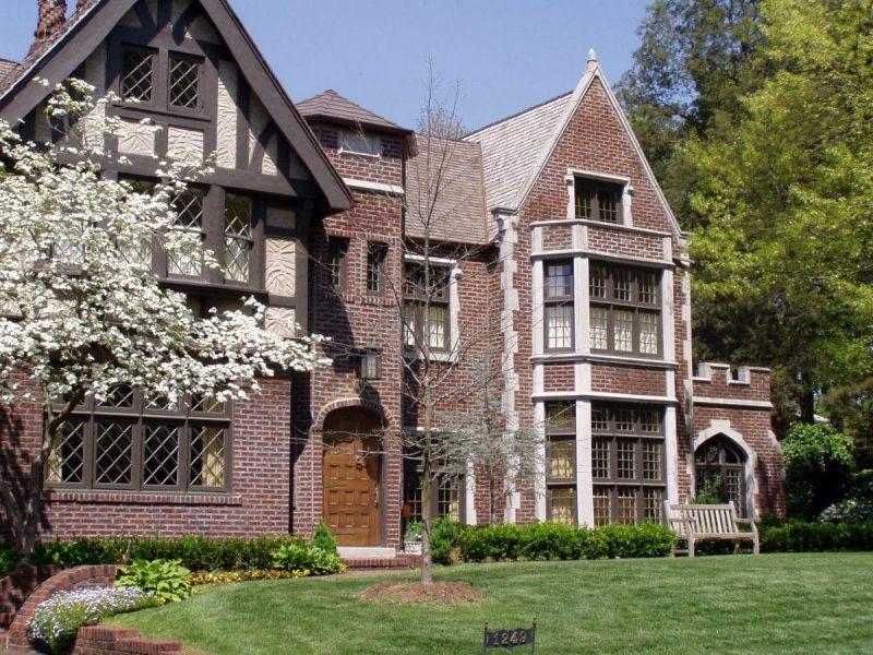 Worcester Tudor Revival Elevation - Elements Design Build Greenville SC