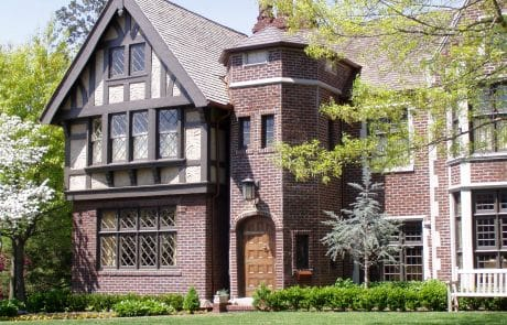 Worcester Tudor Revival Elevation - Elements Design Build Greenville SC 3