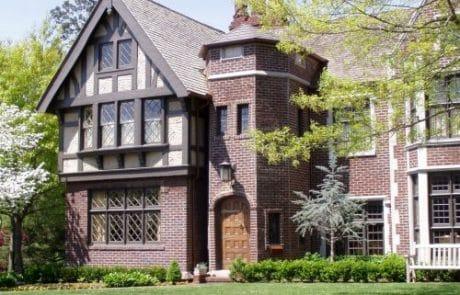 Worcester Tudor Revival Elevation - Elements Design Build Greenville SC 3