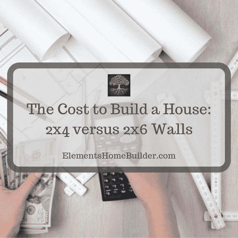 "Photo of a person holding a calculator in one hand and money in the other on ""The Cost to Build a House: 2x4 versus 2x6 Wall,"" an article by Elements Design Build, Greenville SC Custom Home Builder"