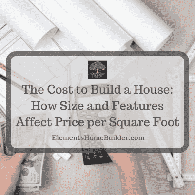 """Photo of a person holding a calculator in one hand and money in the other on """"The Cost to Build a House: How Size and Features Affect Price,"""" an article by Elements Design Build, Greenville SC Custom Home Builder"""