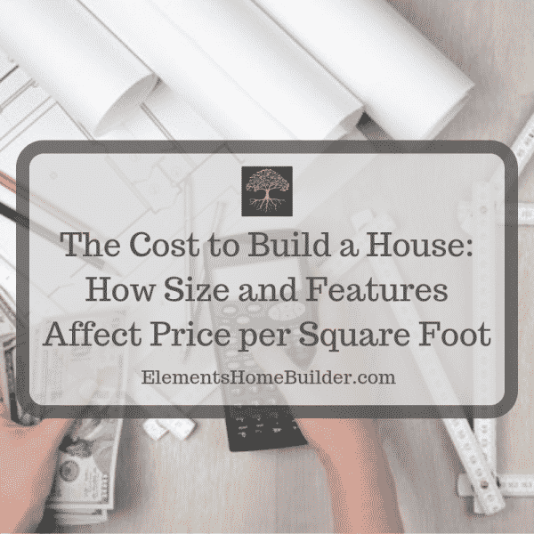 "Photo of a person holding a calculator in one hand and money in the other on ""The Cost to Build a House: How Size and Features Affect Price,"" an article by Elements Design Build, Greenville SC Custom Home Builder"