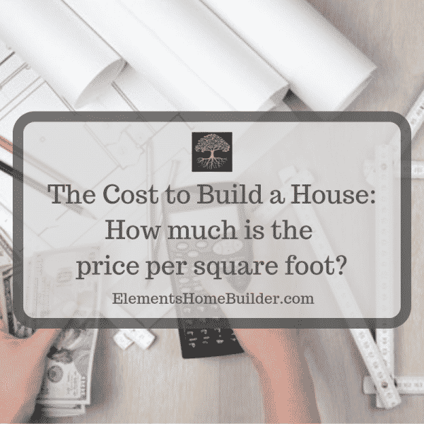 "Photo of a person holding a calculator in one hand and money in the other on ""The Cost to Build a House: How much is price per square foot?"" an article by Elements Design Build, Greenville SC Custom Home Builder"