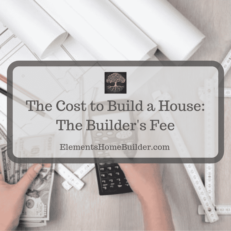 "Photo of person holding a calculator in one hand and money in the other on ""The Cost to Build a House: The Builder's Fee,"" an article by Elements Design Build, Greenville SC Custom Home Builder"