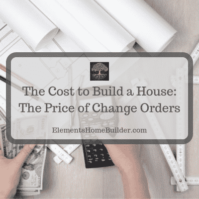 "Photo of a person holding a calculator in one hand and money in the other on ""The Cost to Build a House: The Price of Change Orders,"" an article by Elements Design Build, Greenville SC Custom Home Builder"