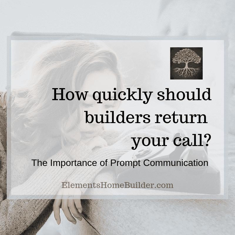 """Photo of a woman staring at a phone on """"How quickly should builders return your call?"""" - An article by Elements Design Builder, one of the top Greenville SC custom home builders"""