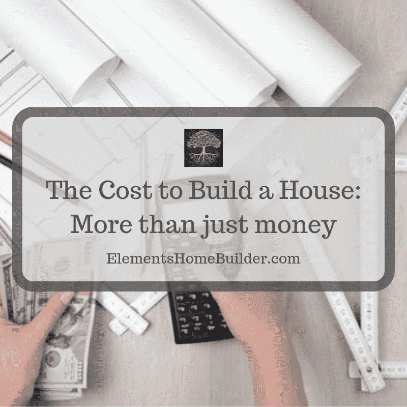 """Photo of a person holding a calculator in one hand and money in the other on """"The Cost to Build a House: More than just money,"""" an article by Elements Design Build, Custom Home Builder Greenville SC"""