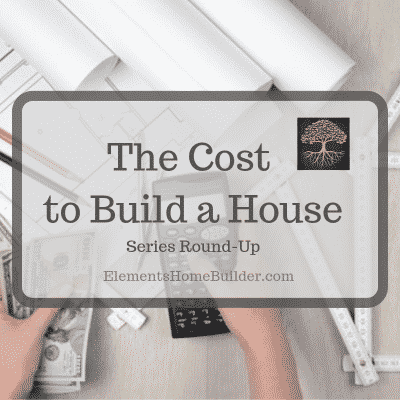 """Photo of a person holding a calculator in one hand and money in the other on """"The Cost to Build a House: Series Round-Up,"""" an article by Elements Design Build, one of the best Custom Home Builders Greenville SC"""