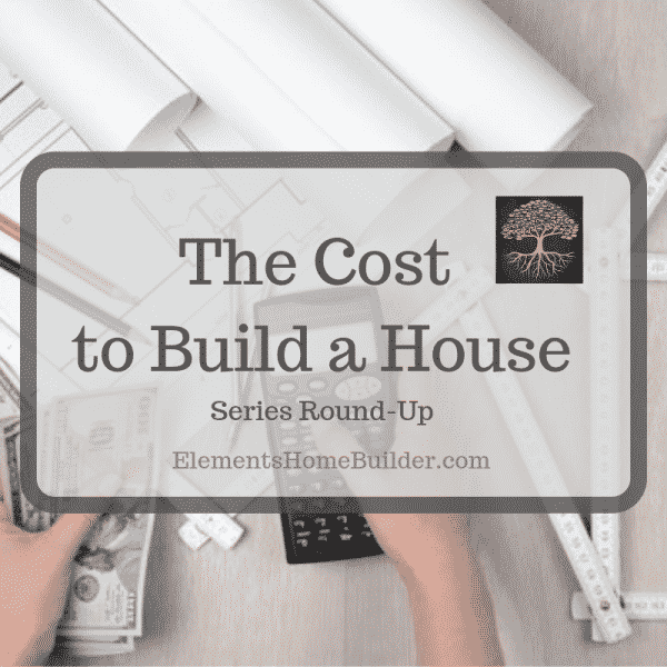 "Photo of a person holding a calculator in one hand and money in the other on ""The Cost to Build a House: Series Round-Up,"" an article by Elements Design Build, one of the best Custom Home Builders Greenville SC"