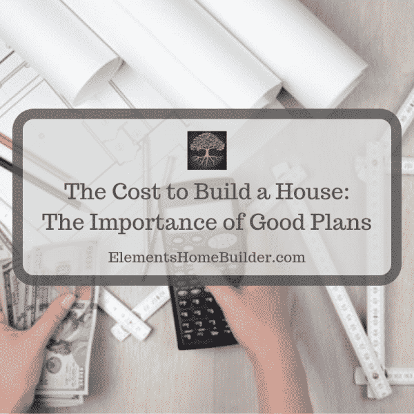 "Photo of a person holding a calculator in one hand and money in the other on ""The Cost to Build a House: The Importance of Good Plans,"" an article by Elements Design Build, one of the best home builders Greenville SC"