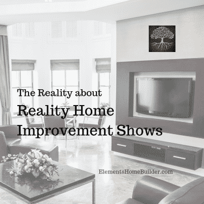 """Photo of a living room on """"The Reality about Reality Home Improvement Shows,"""" an article by Elements Design Build, Greenville SC Custom Home Builder"""