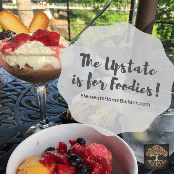 "Photo of desserts from Passerelle Bistro in Greenville South Carolina on ""The Upstate is for Foodies!"" an article by Elements Design Build, Greenville SC Custom Home Builder"